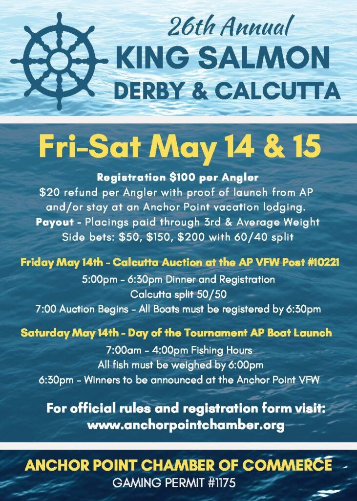 26th Annual King Salmon Derby & Calcutta